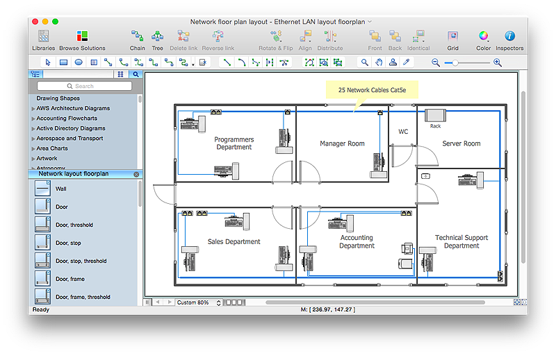network  layout  floor plan
