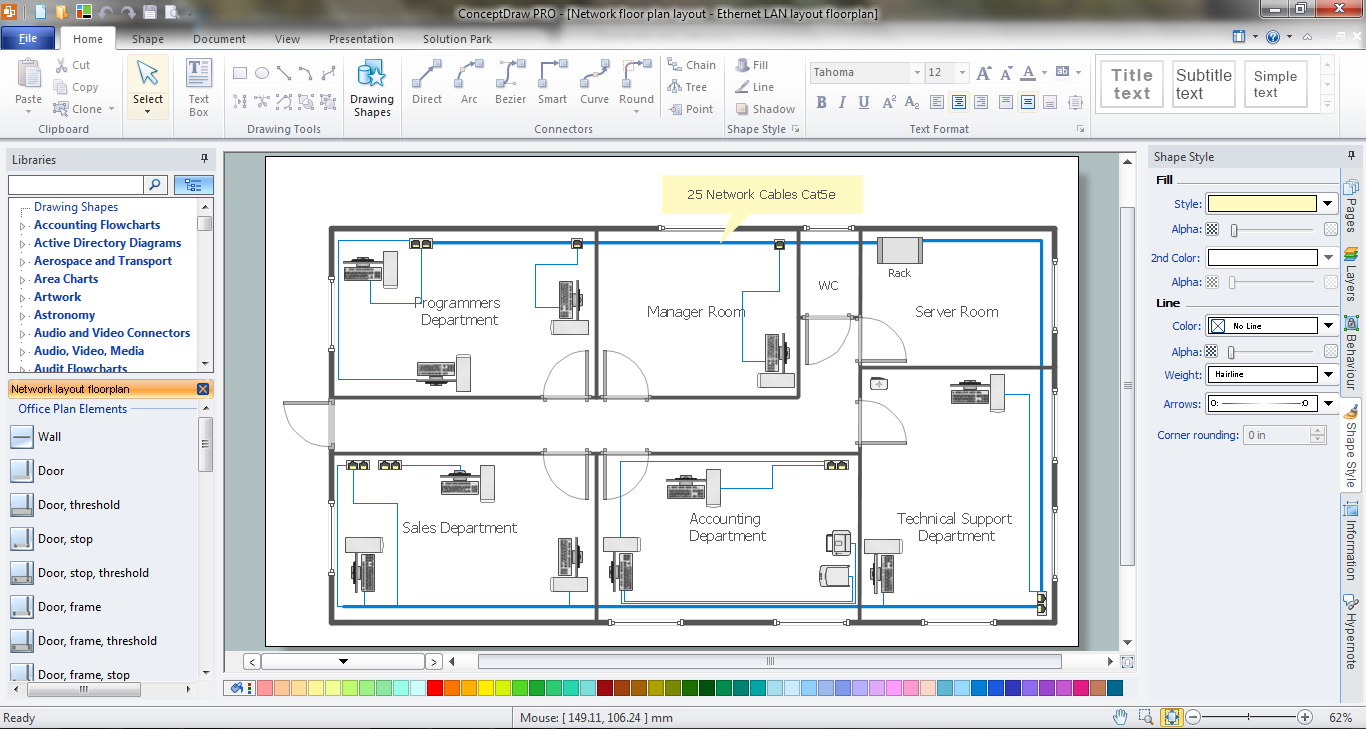 Network Visualization in ConceptDraw PRO