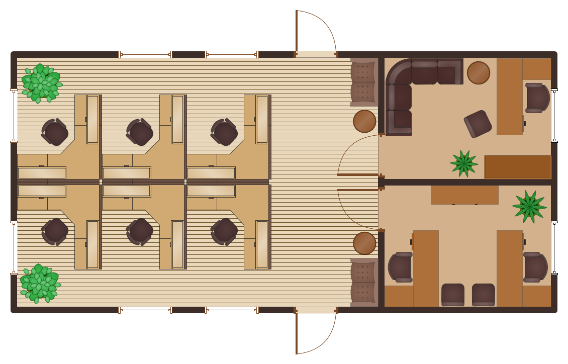 Office Floor Plans - Cubicle Layout