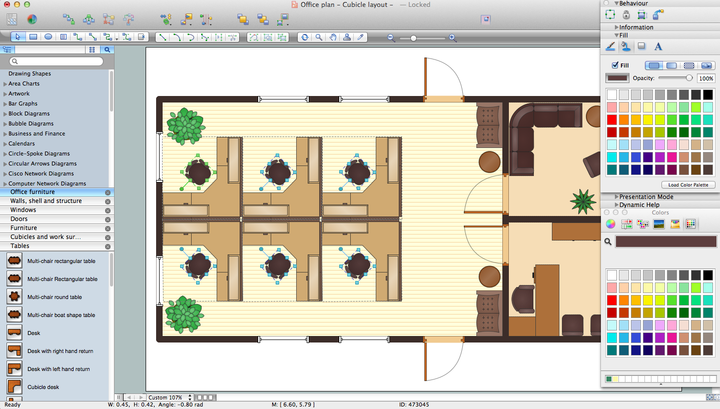 Office layout software create great looking office plan for Planning software free