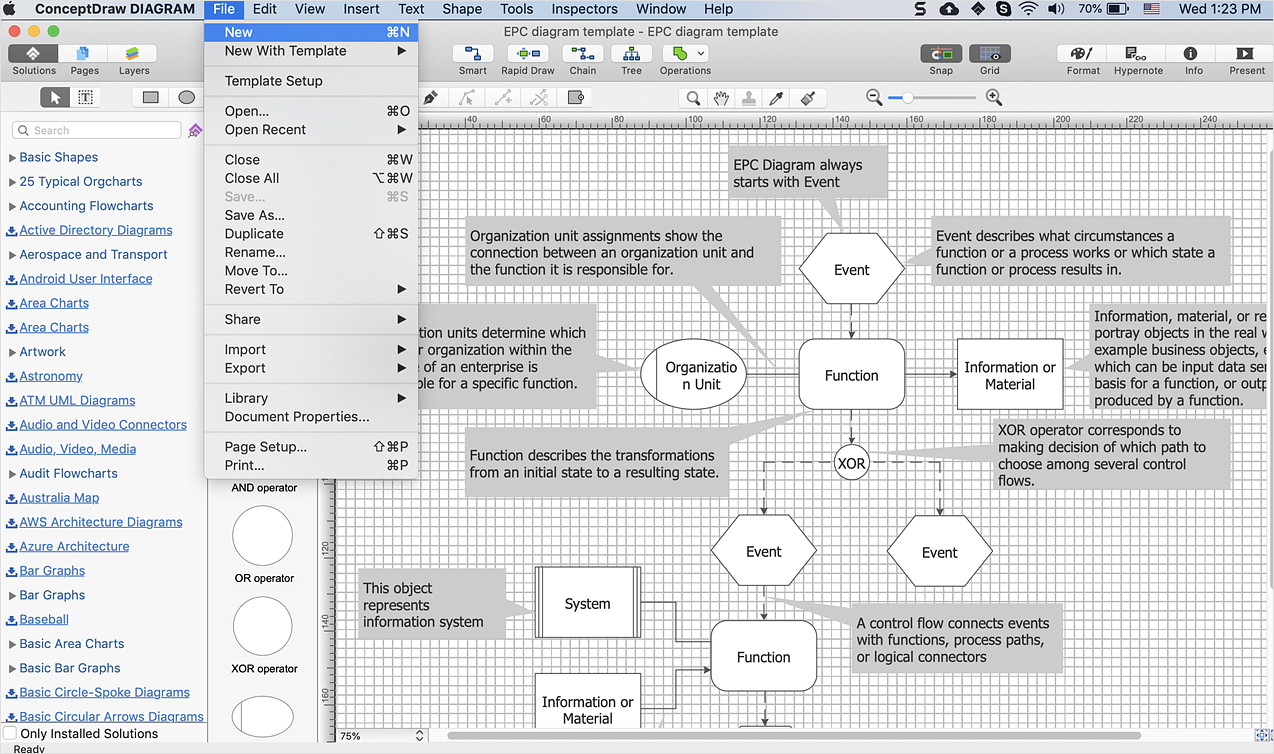 How to Change the Startup Page in ConceptDraw DIAGRAM *