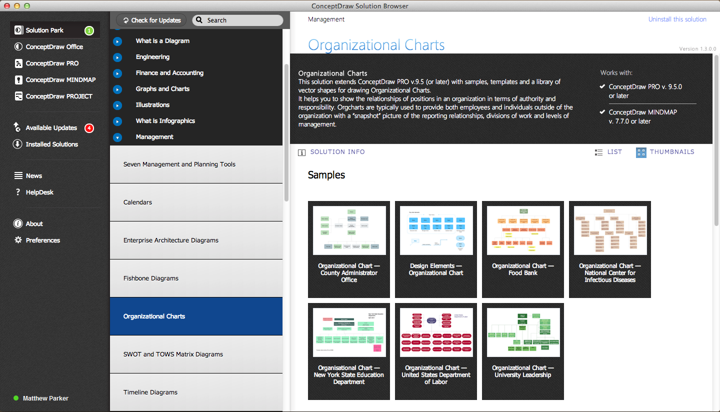 organizational charts solution in conceptdraw store - Organizational Chart Free Software