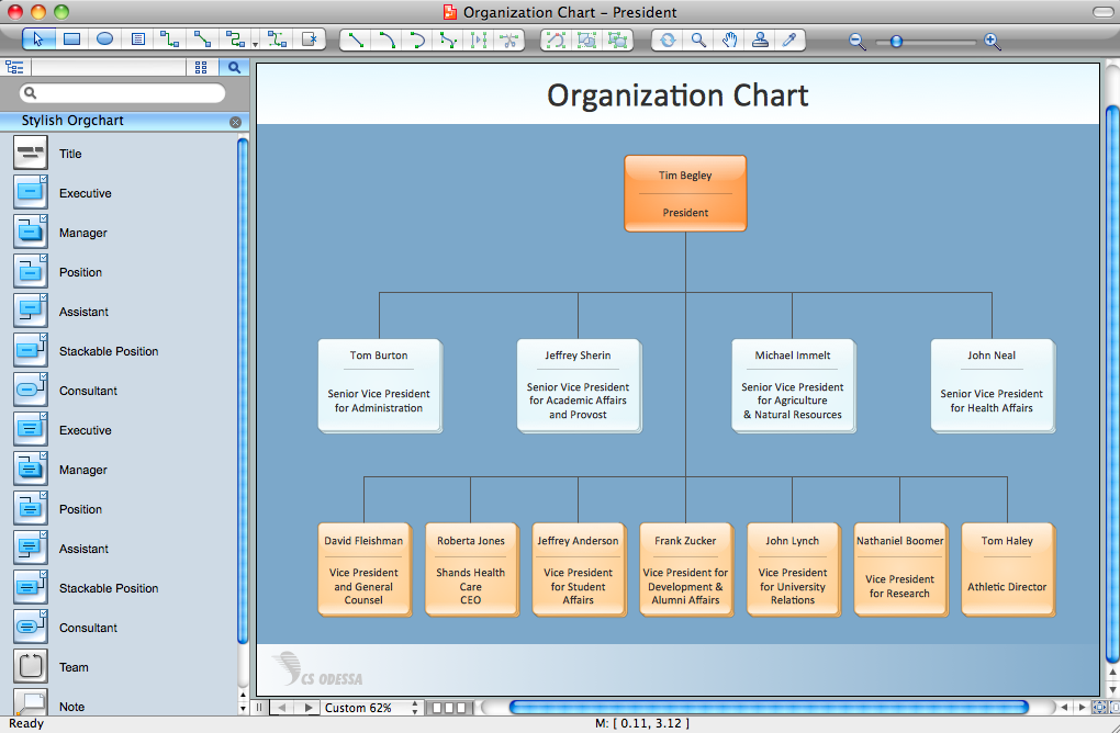 Organizational Structure – Business Organizational Chart