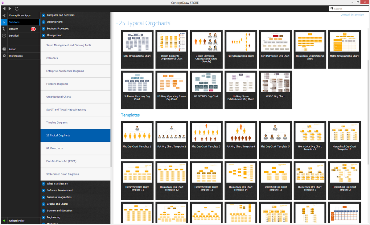 25 Typical Orgcharts Solution in ConceptDraw STORE