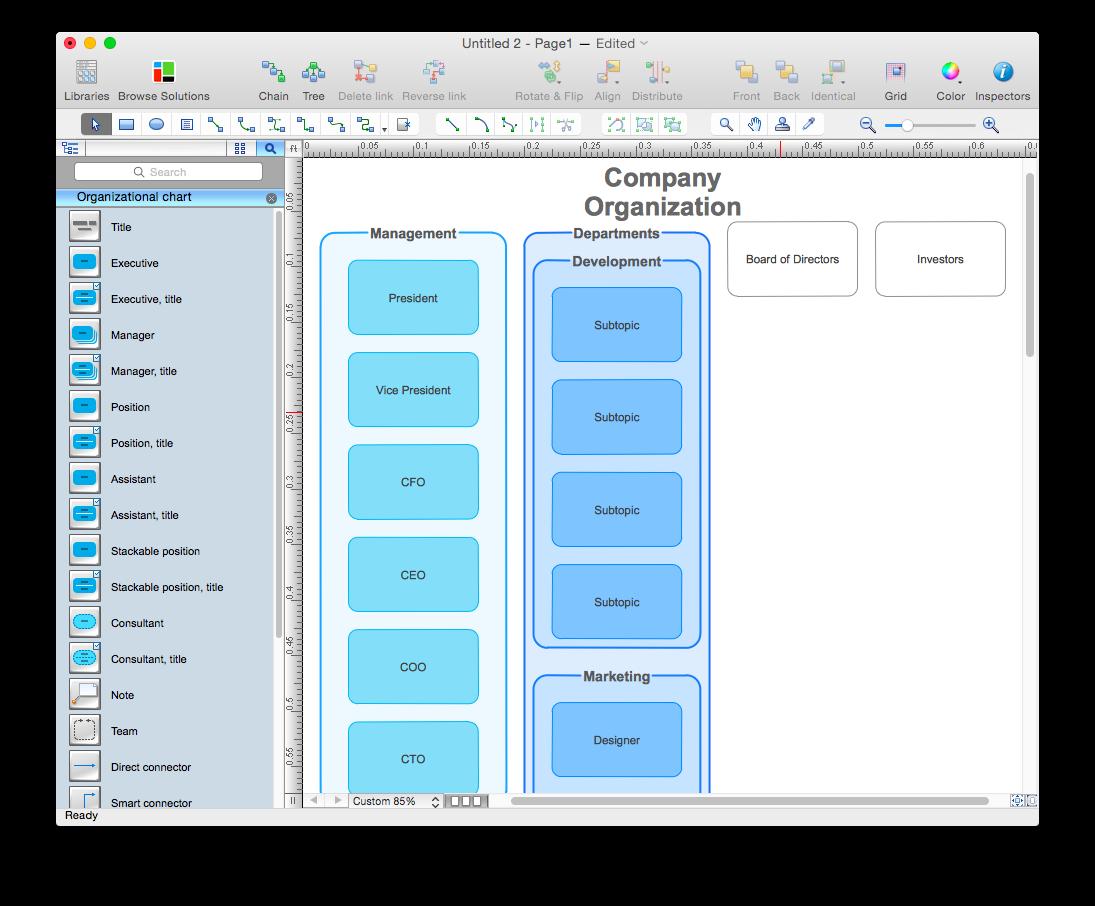 conceptdraw organizational chart