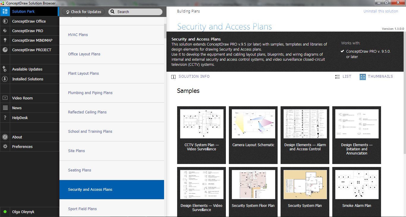Security and Access Plans Solution in ConceptDraw STORE