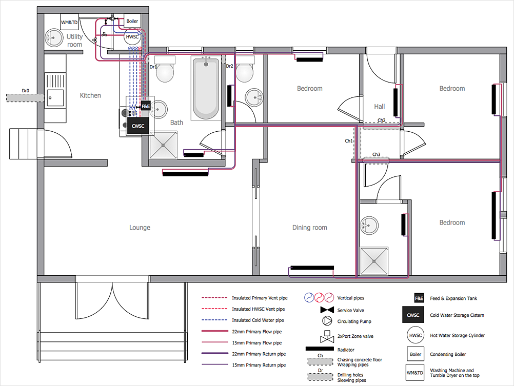 Piping Layout Plan - wiring