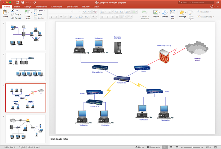 How To Add a Computer Network Diagram to a PowerPoint Presentation | How to  Add a Telecommunication Network Diagram to a PowerPoint Presentation | How  to Add a Wireless Network Diagram toConceptdraw.com