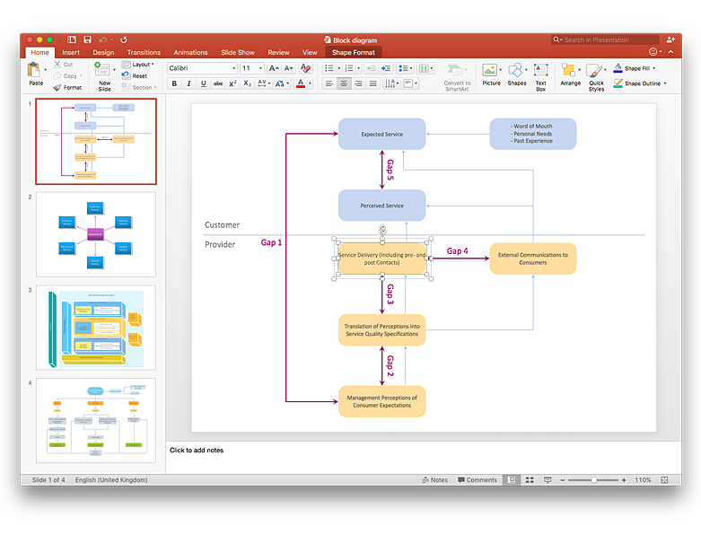How to Add a Block Diagram to a MS Word ™ Document Using ConceptDraw