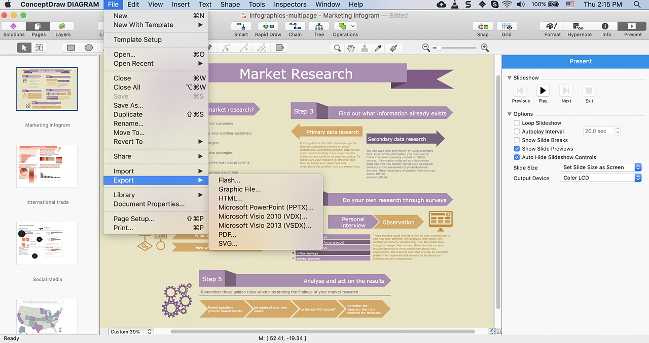 ConceptDraw document exported to flash