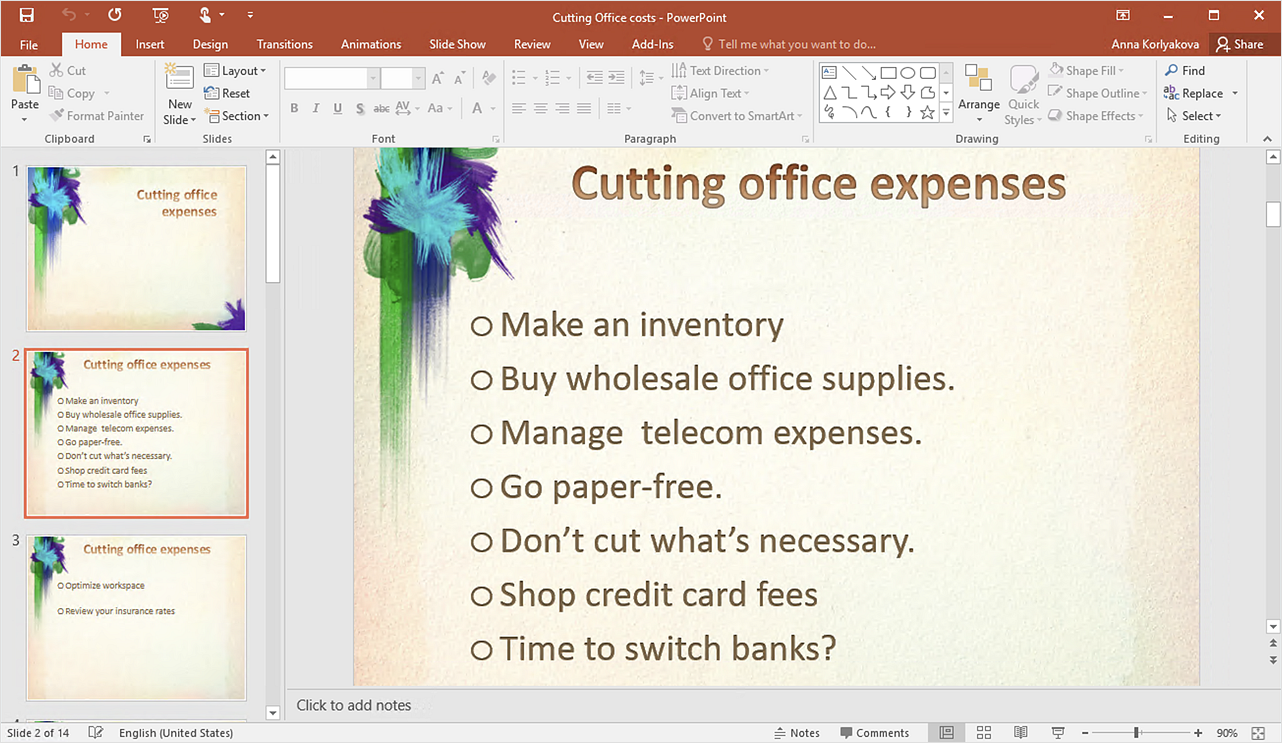 How to Create PowerPoint Text Slides from Mind Maps