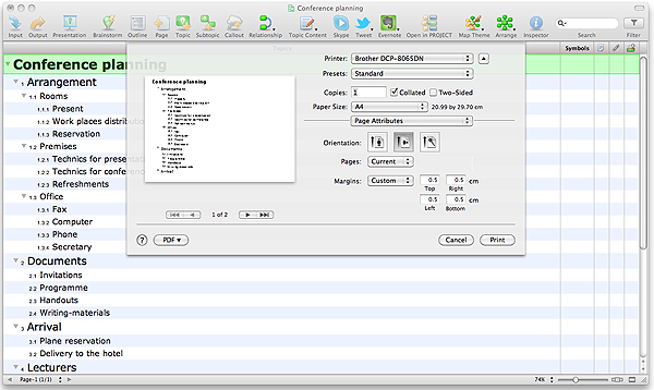 print conceptdraw mindmap outline