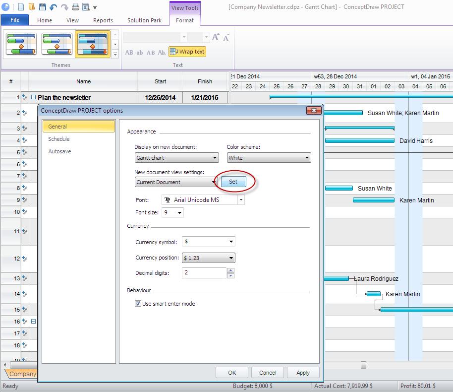 Customize project file on Windows