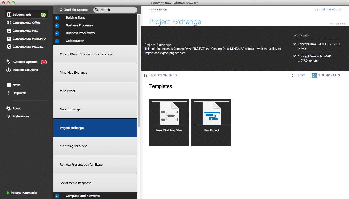 Project Exchange Solution in ConceptDraw STORE