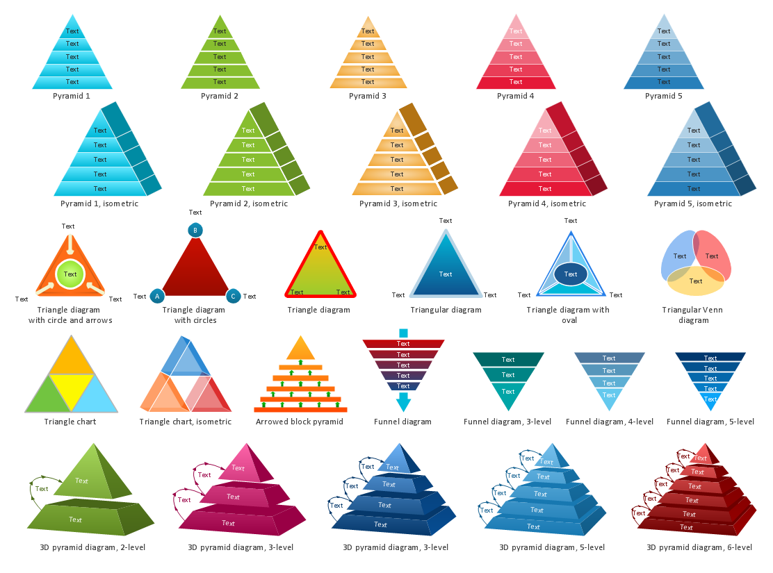 Pyramid Diagrams Library Design Elements