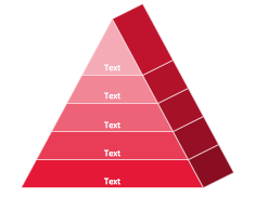 Pyramid diagram isometric