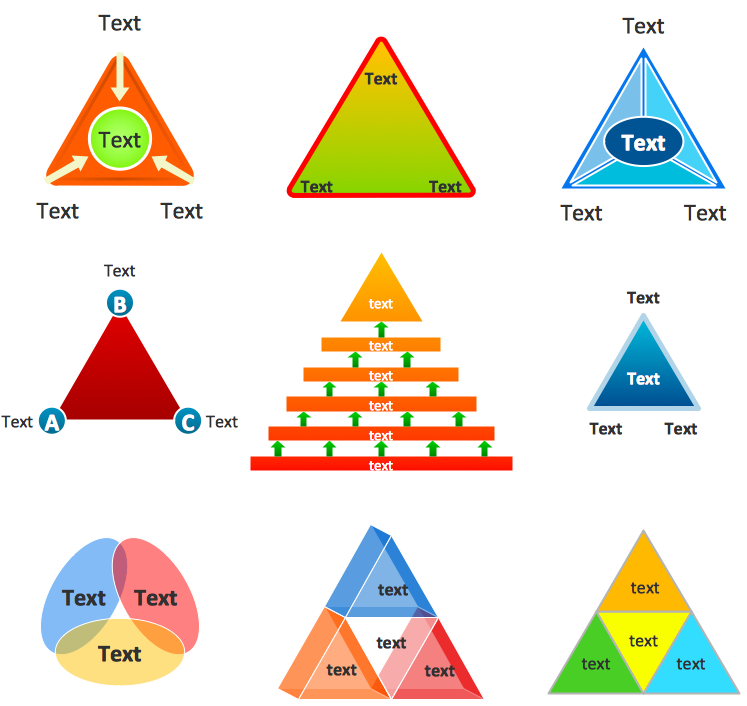 Creating pyramid diagram quickly conceptdraw helpdesk conceptdraw triangle diagram ccuart Gallery