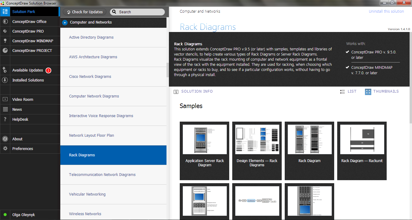 Rack Diagrams Solution in ConceptDraw STORE