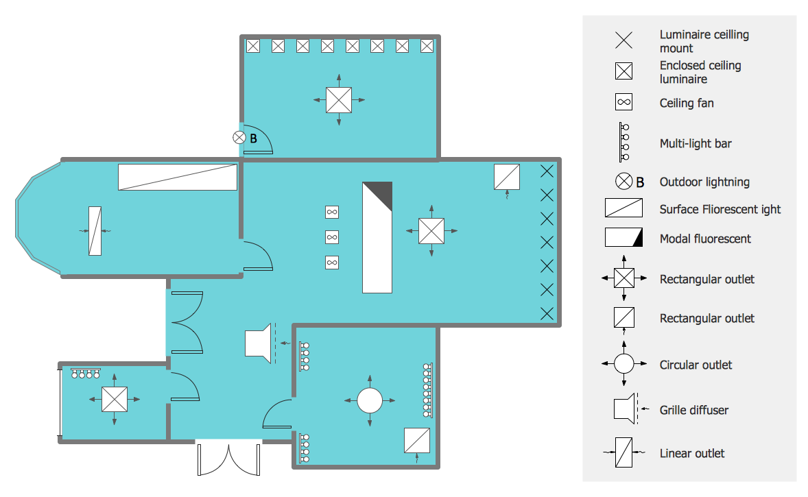 Creating A Reflected Ceiling Floor Plan Conceptdraw Helpdesk
