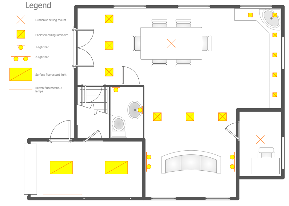 Creating A Reflected Ceiling Plan Conceptdraw Helpdesk