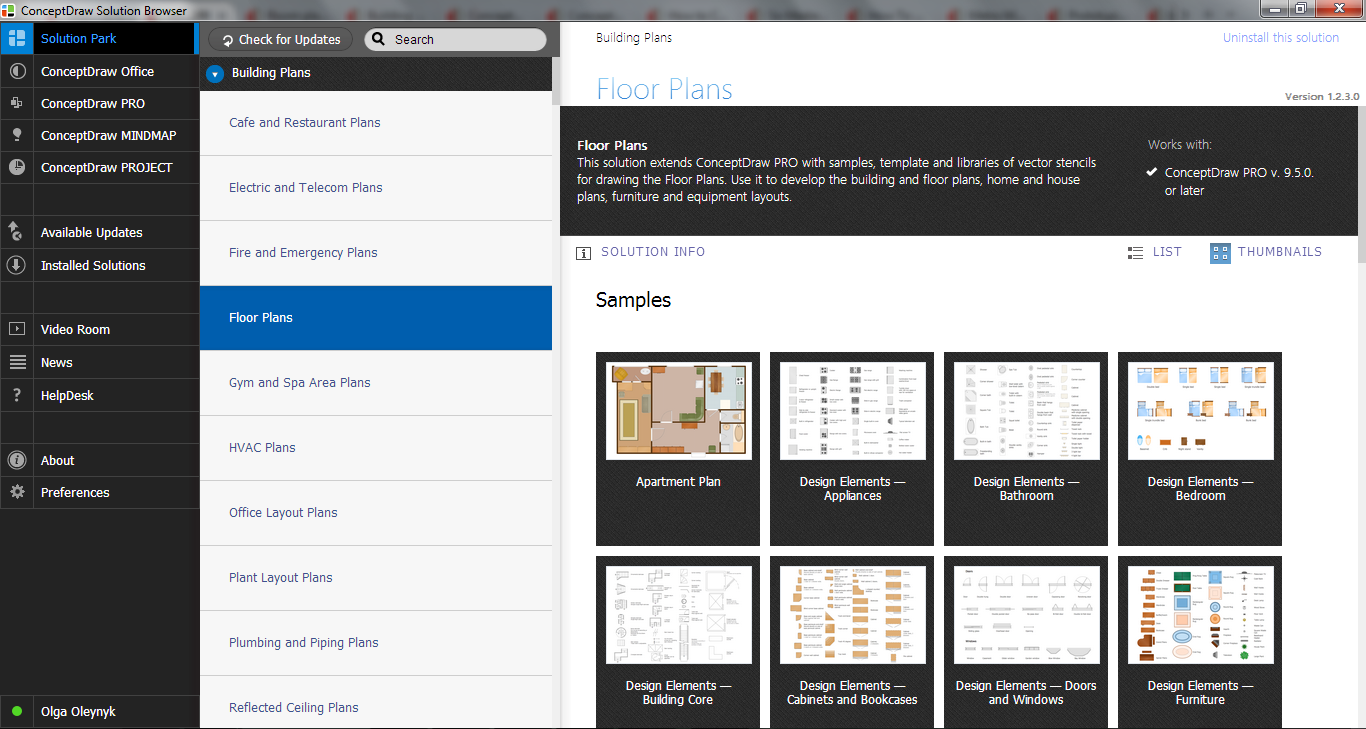 Floor Plans Solution in ConceptDraw STORE