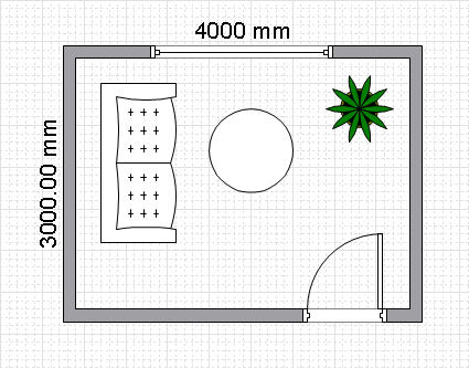 Room planning with conceptdraw for How to draw a room to scale
