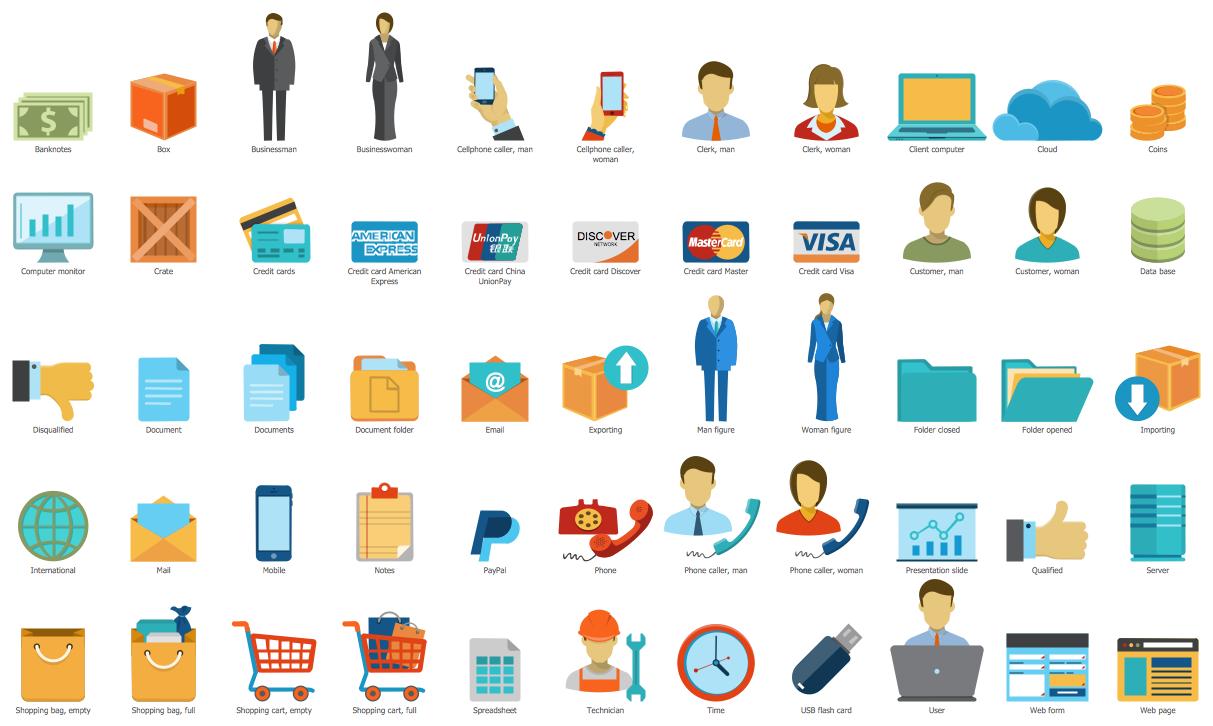 Sales Symbols Library