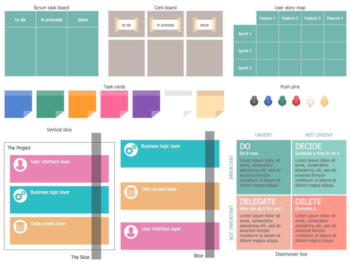Scrum Diagrams Design Elements