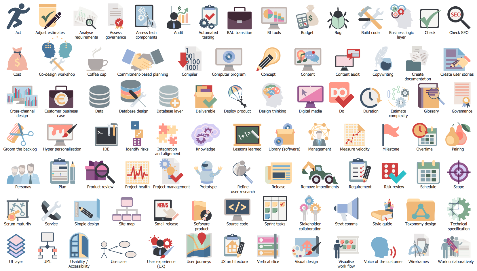 Scrum Clipart Library