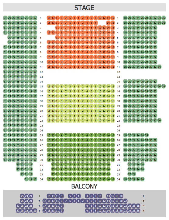 Seating Arrangements - Philharmonic Hall Seating Plan