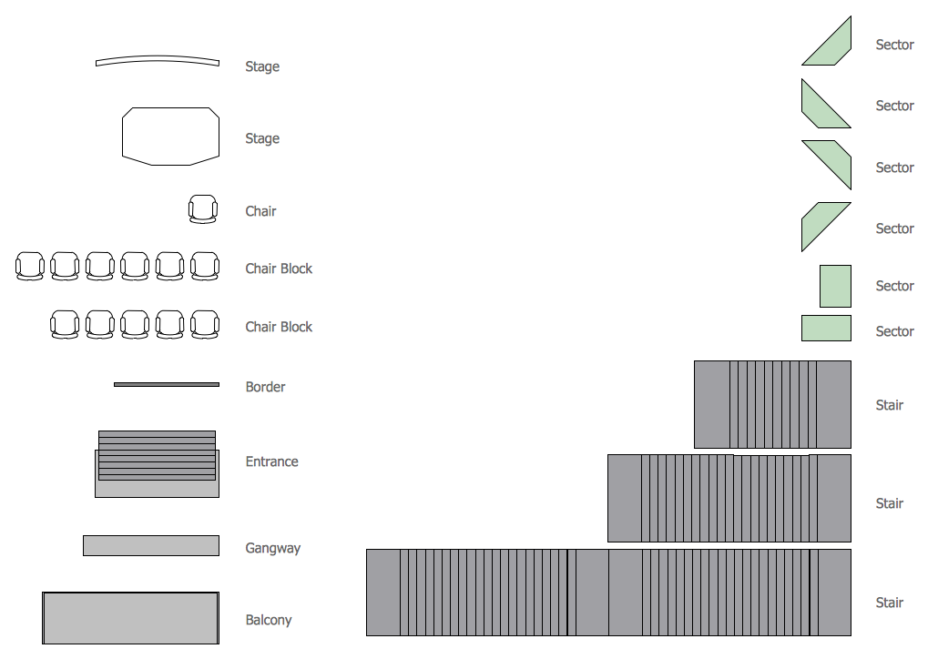 Seat Blocks Library Design Elements