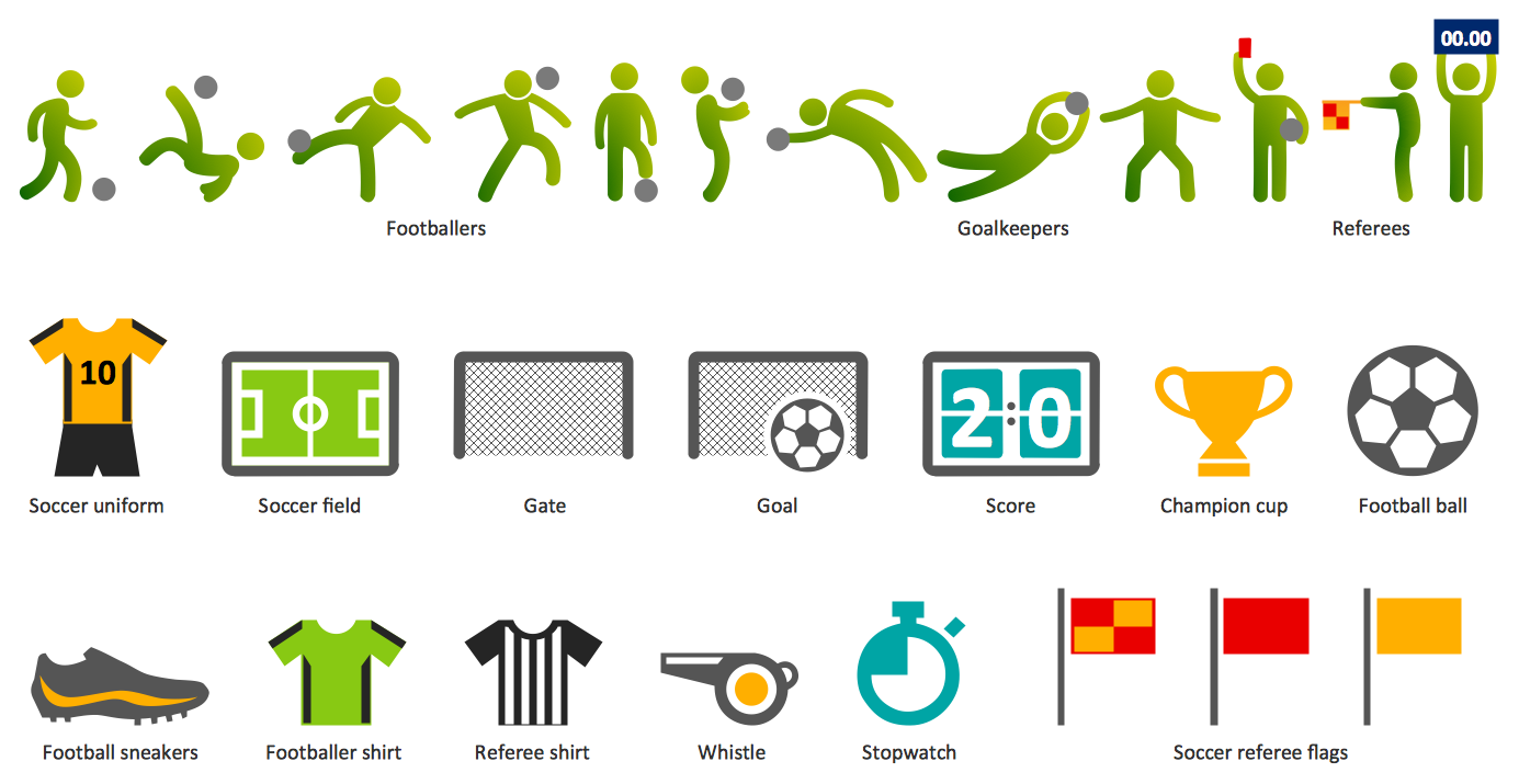 Soccer Football pictograms
