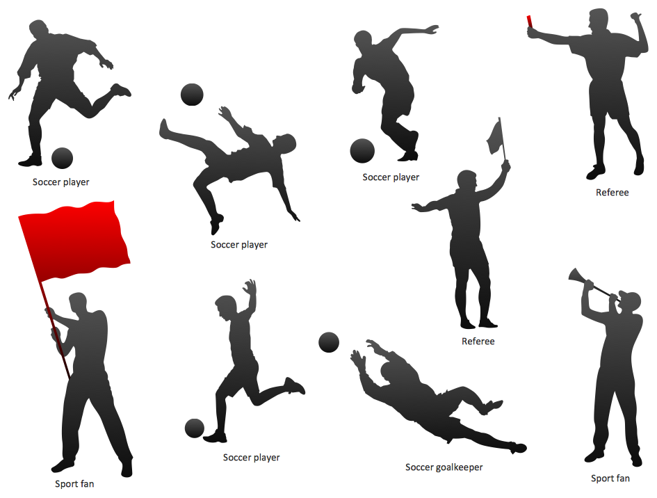 Soccer Football Silhouettes