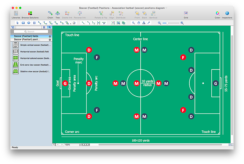 Create Soccer Poisition Diagram Manual Guide
