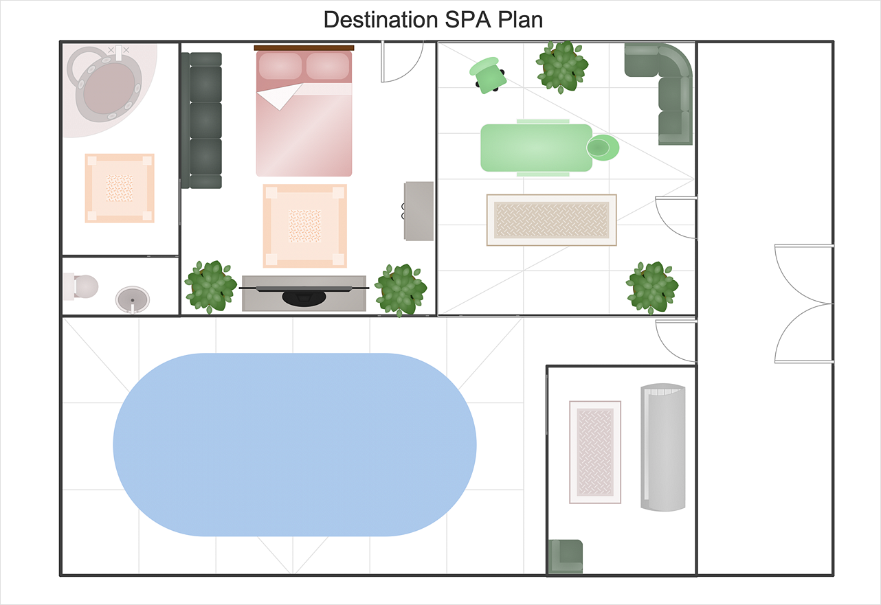Spa Floor Plan How To Draw A Floor Plan For Spa Gym And Spa Area Plans Spa Layout