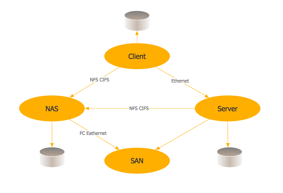Storage area networks (SAN). <br>Computer and Network Examples *
