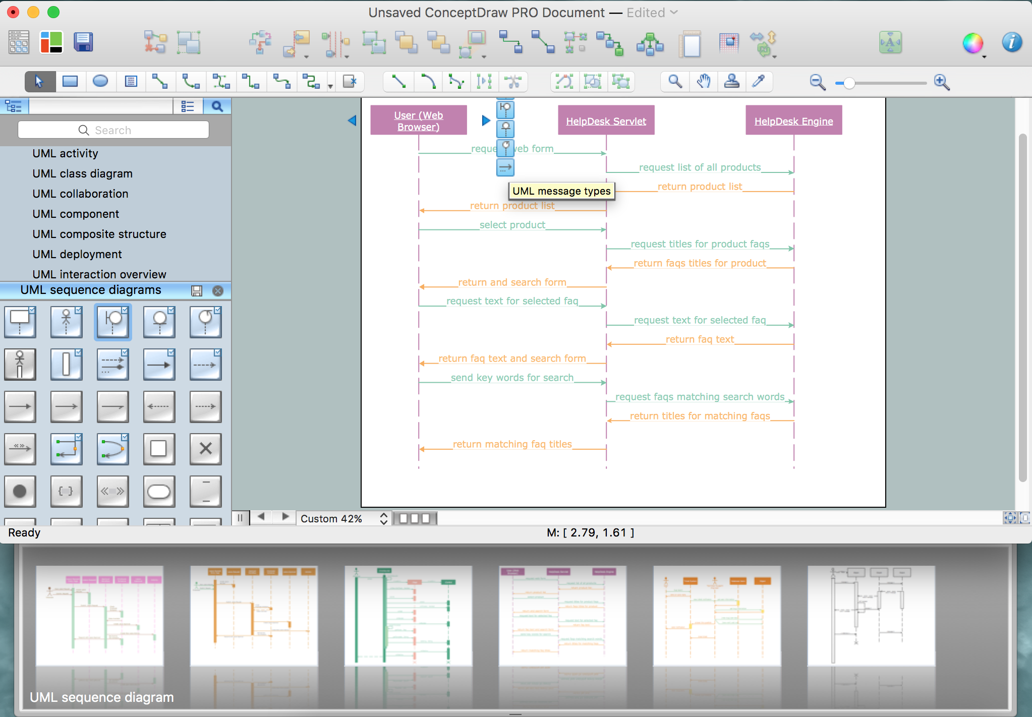 UML Sequence Diagram Example. SVG Vectored UML Diagrams Tools