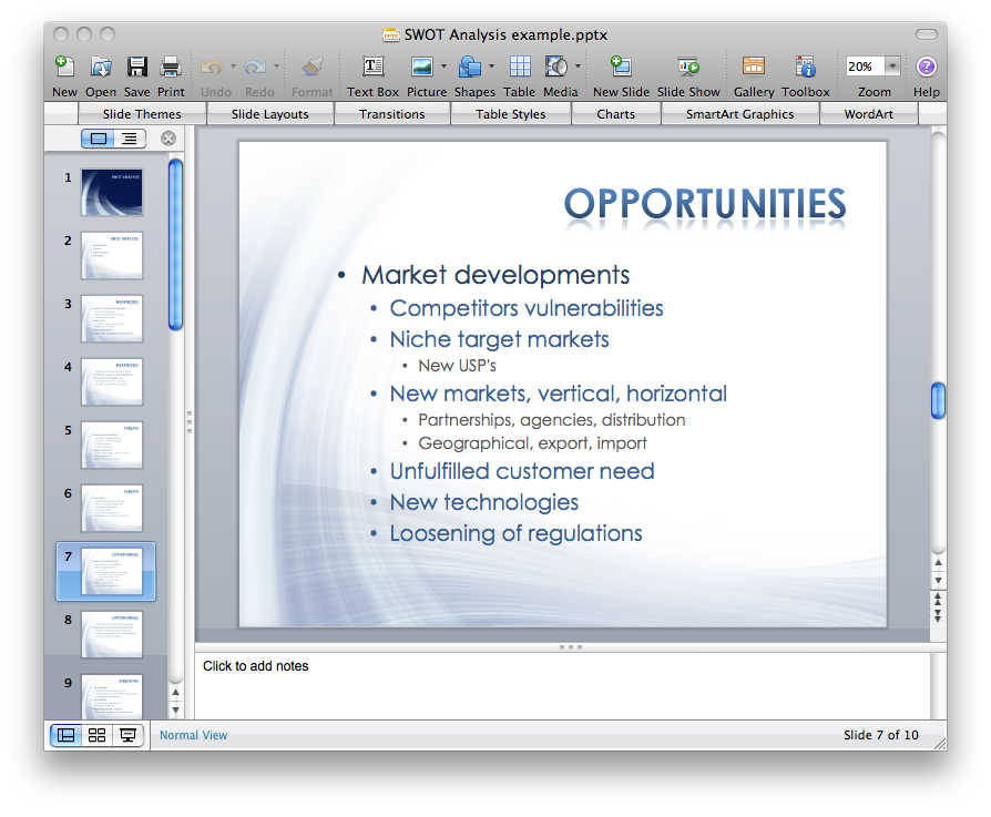 How To Create A Powerpoint Presentation From A Swot Matrix How To