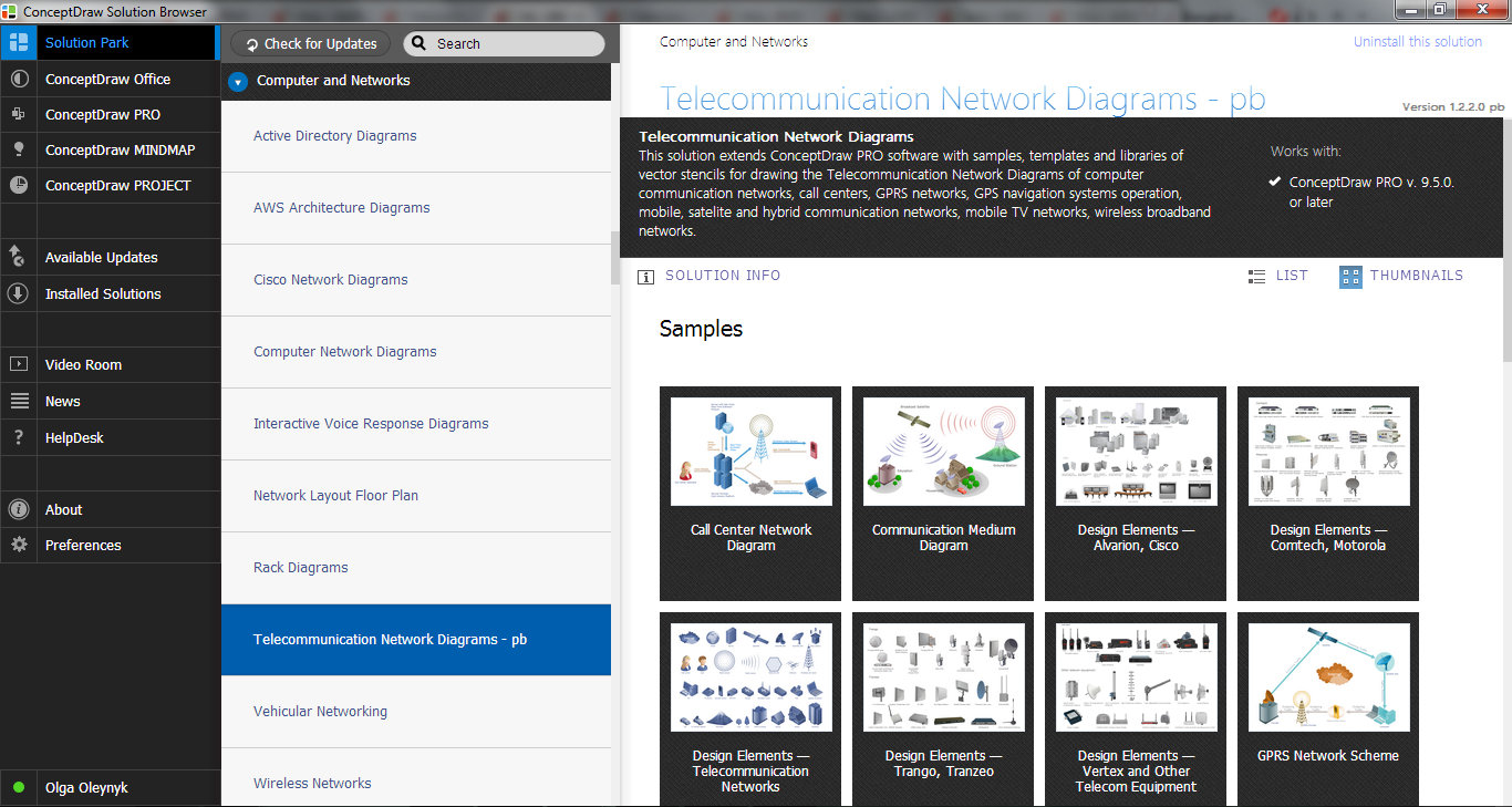 Telecommunication Network Diagrams Solution in ConceptDraw STORE