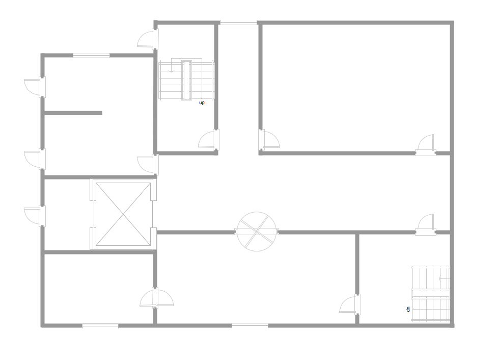 Pic 1. Template restaurant floor plan for kids.