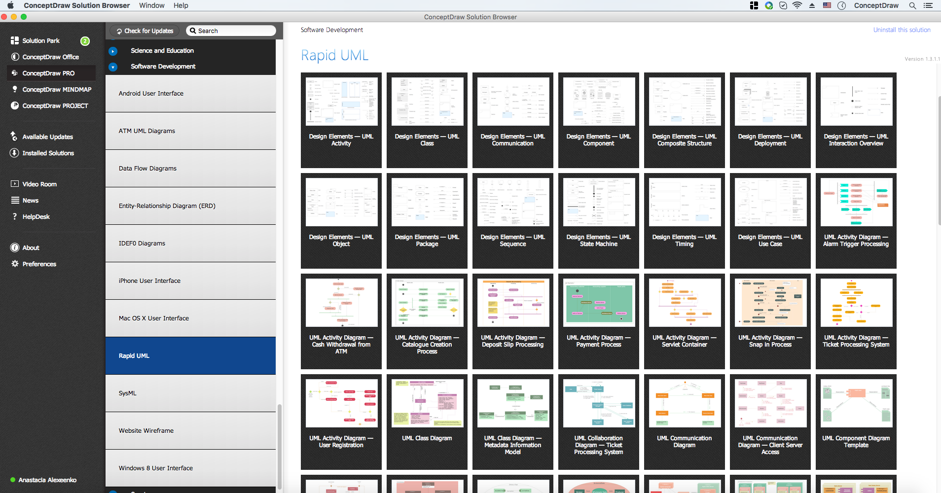 Rapid UML Solution in ConceptDraw STORE