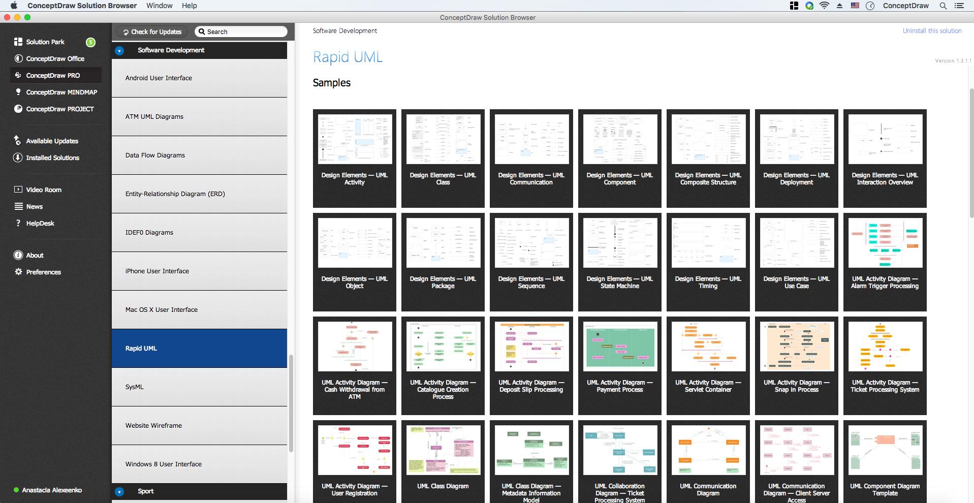 Uml class diagram example apartment plan uml diagram solution example 1 ccuart Image collections