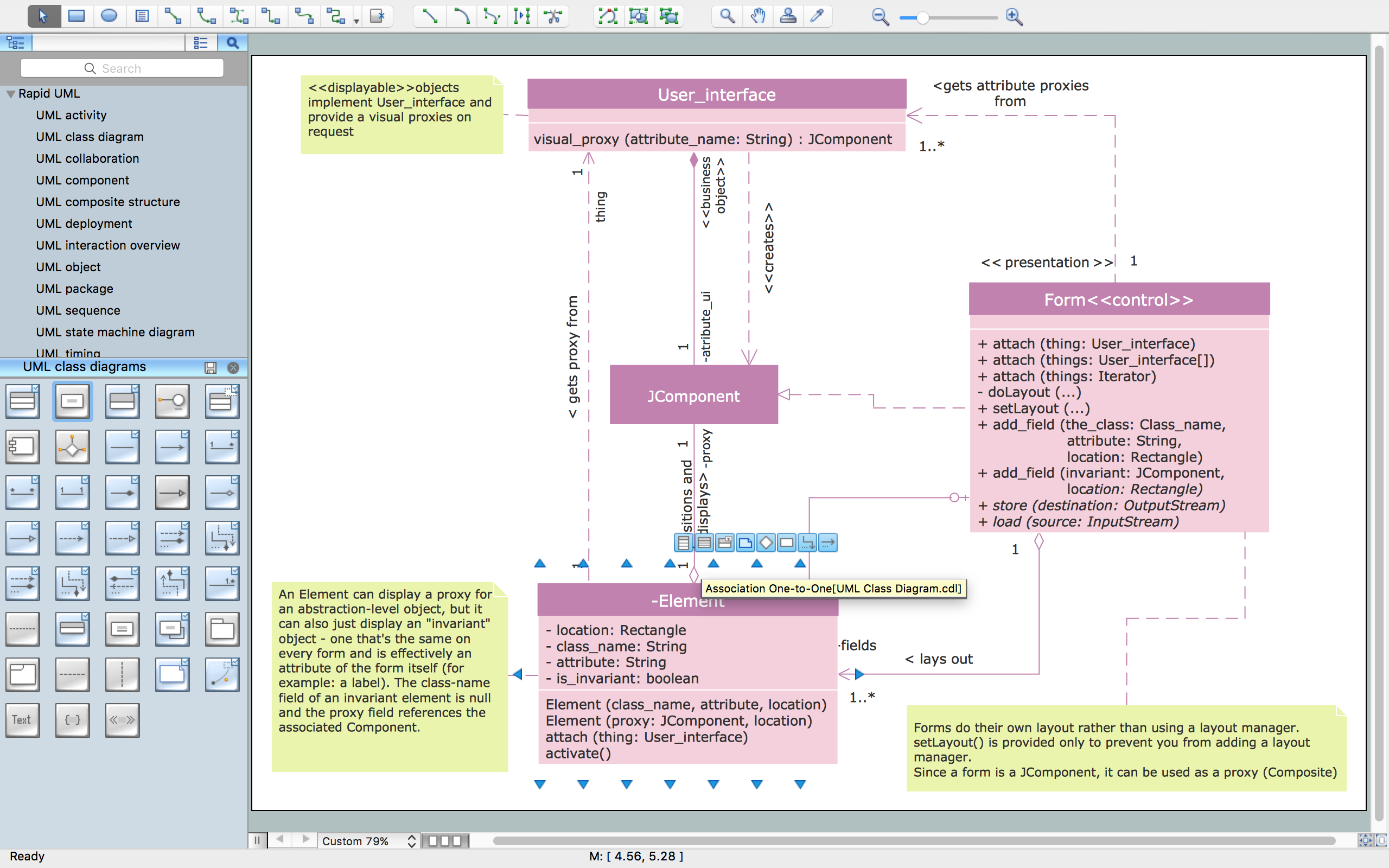 Uml Class Diagram  Design Elements