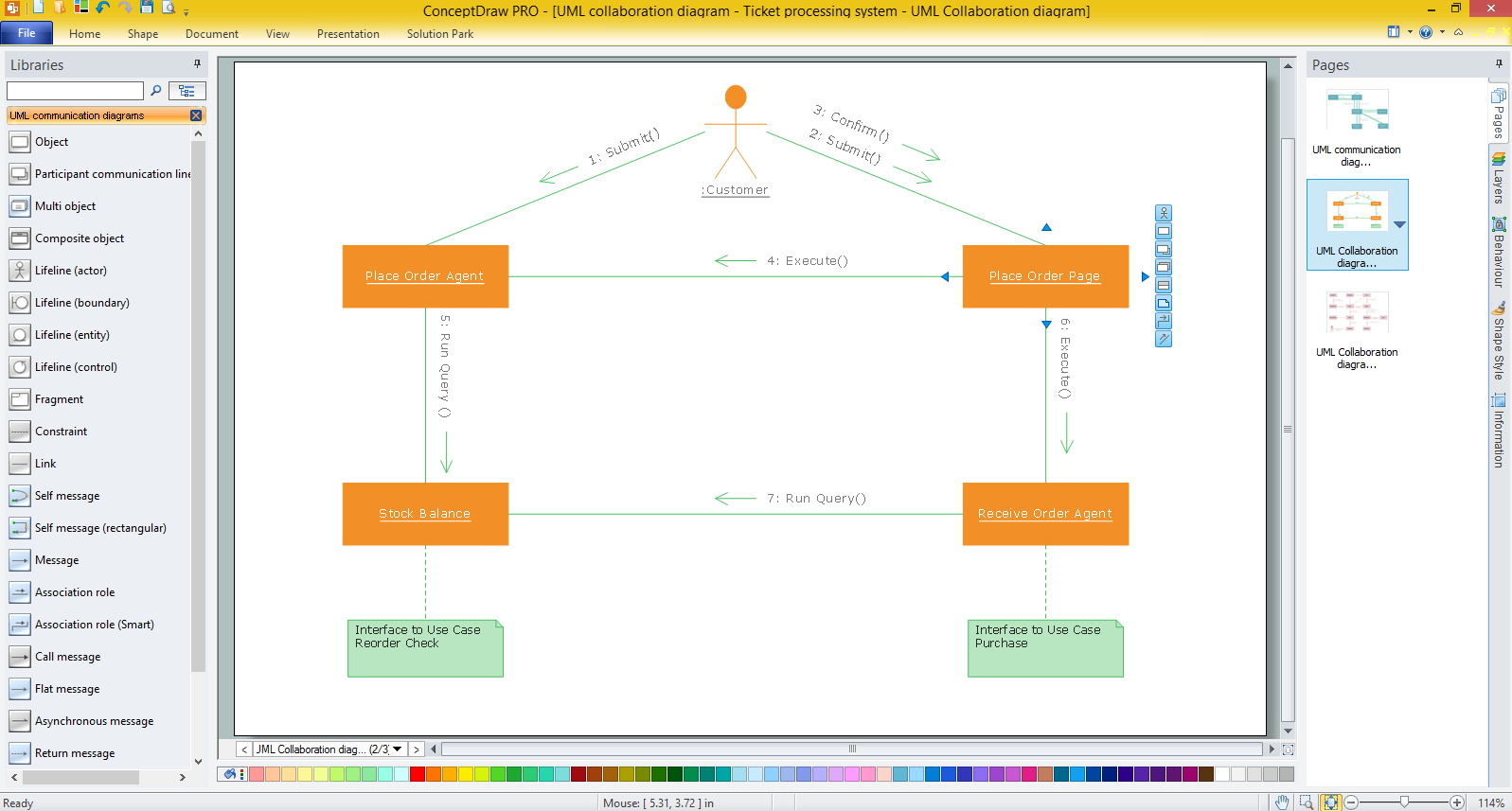 Uml Collaboration Diagram Uml20 Professional Drawing Sequence Likewise Workflow Tool Sample For Windows
