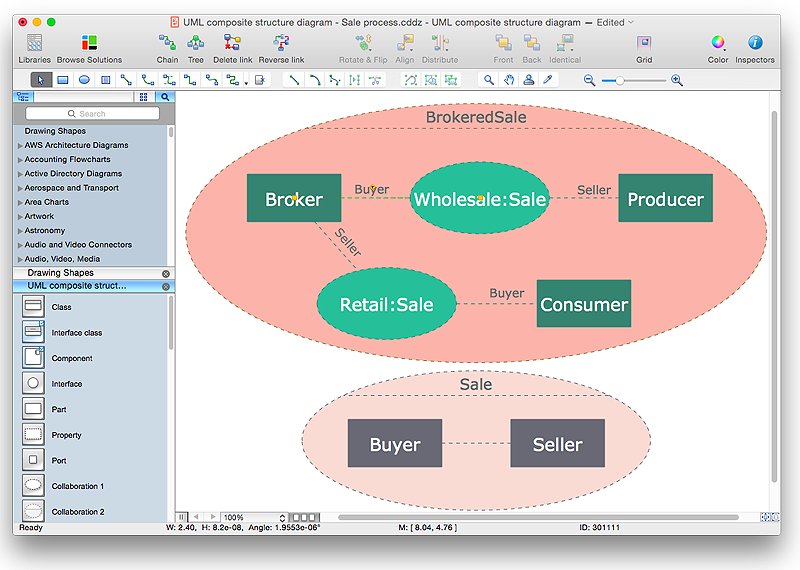 how to edit grouped shapes in conceptdraw pro on os x draw diagram rh conceptdraw com