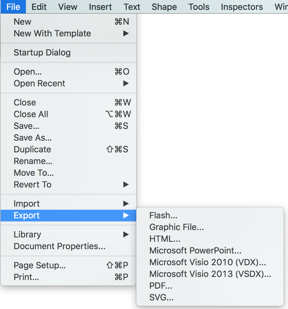 Importing and Exporting MS Visio and ConceptDraw PRO Files