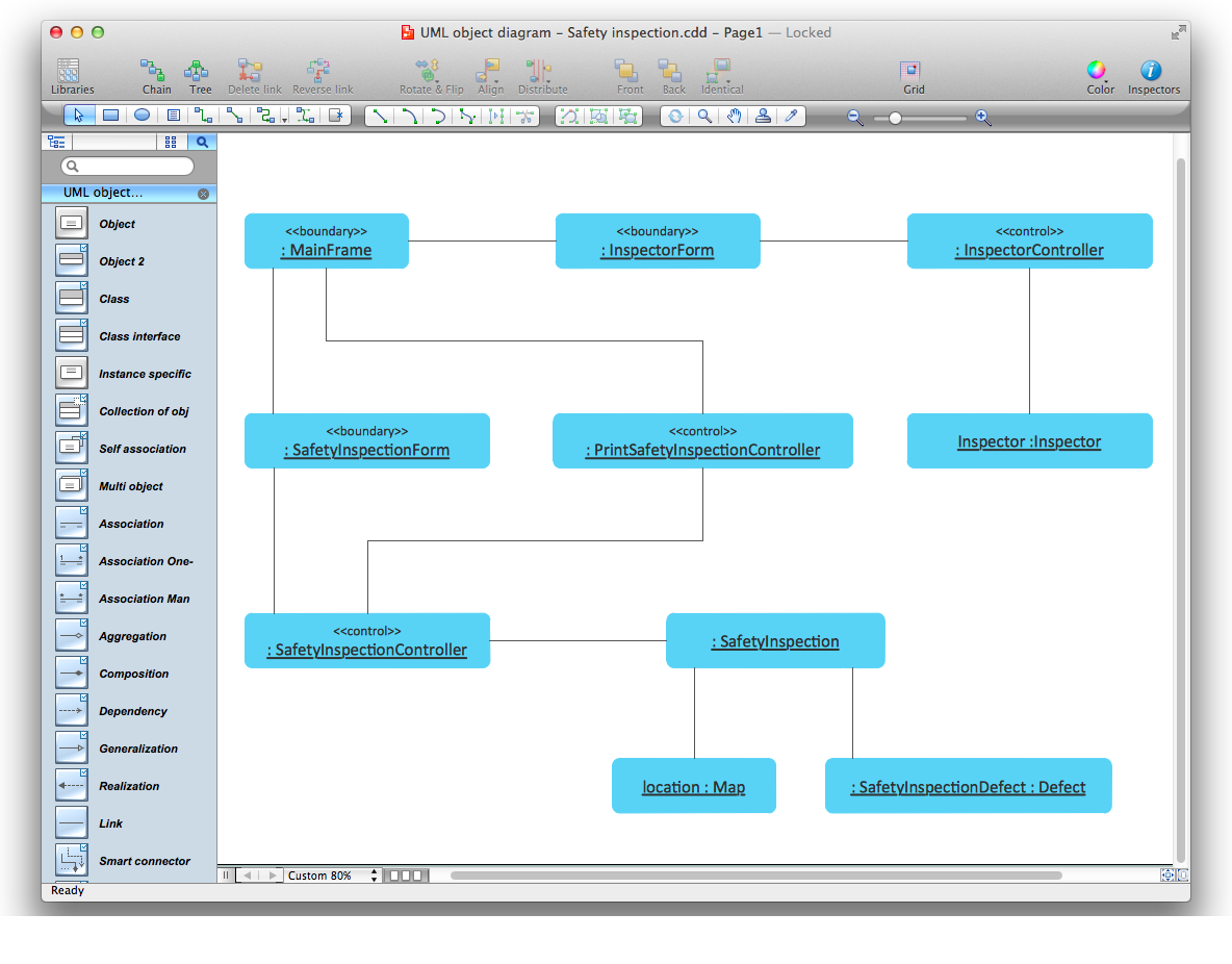 uml object diagram for mac