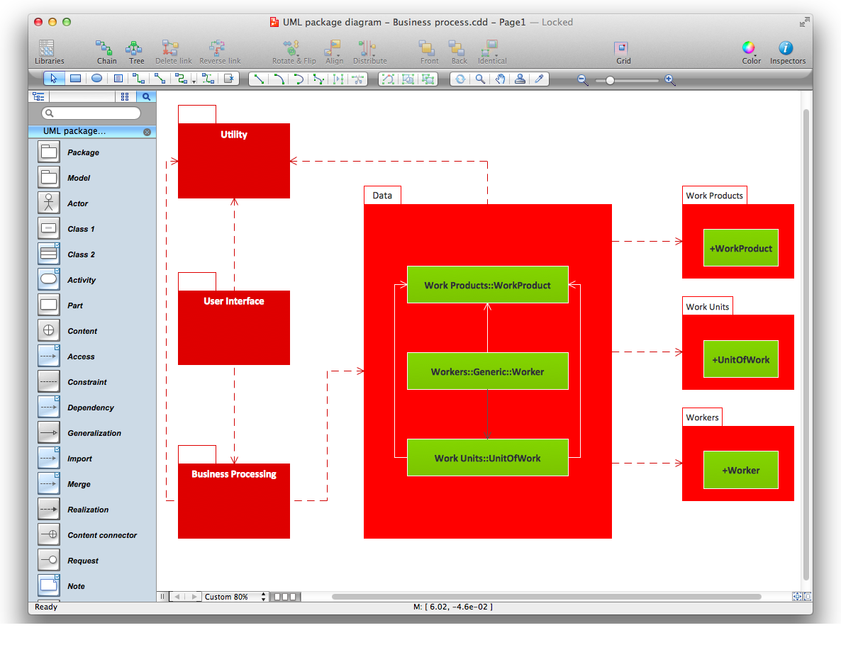 uml package diagram for mac