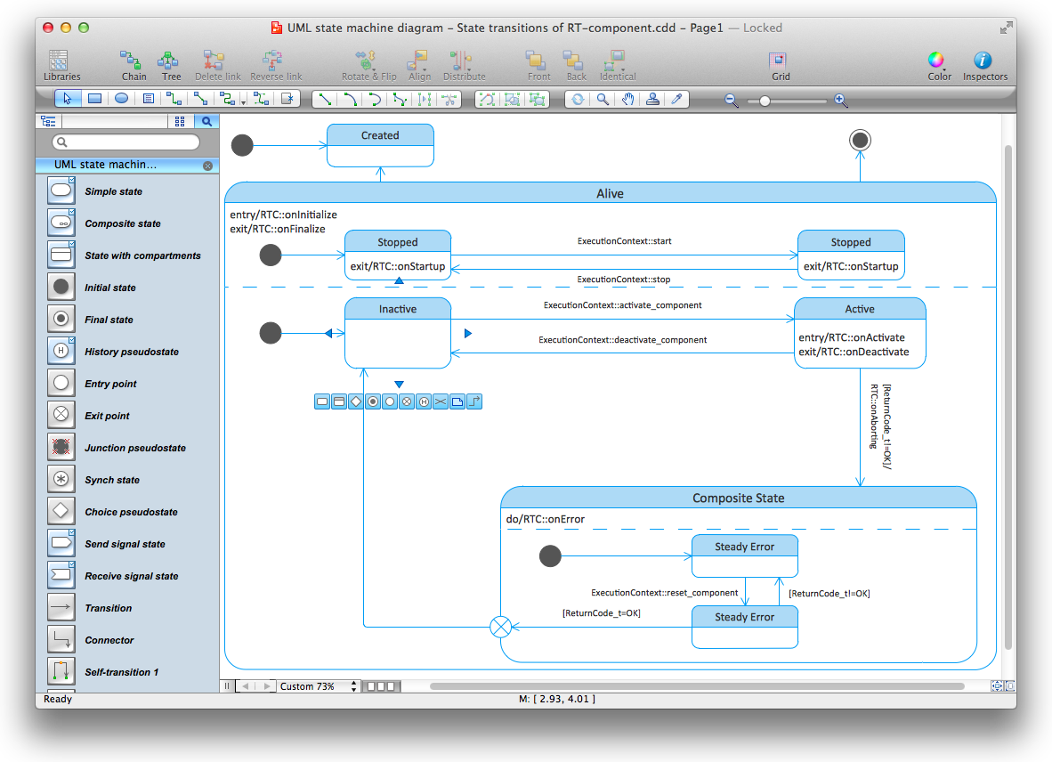 uml state machine diagram for mac