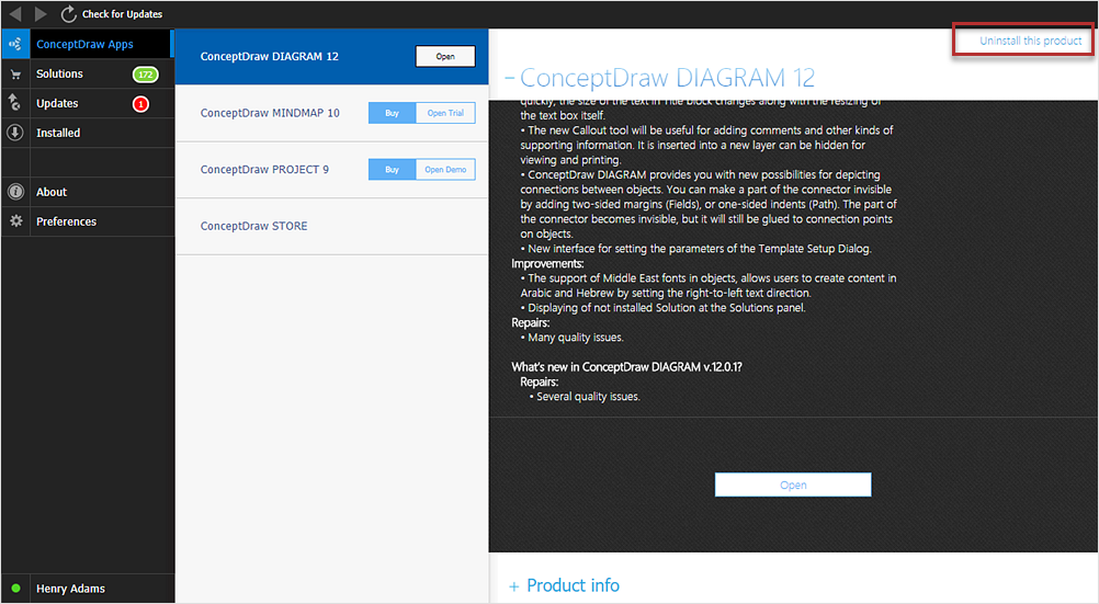 how to uninstall conceptdraw